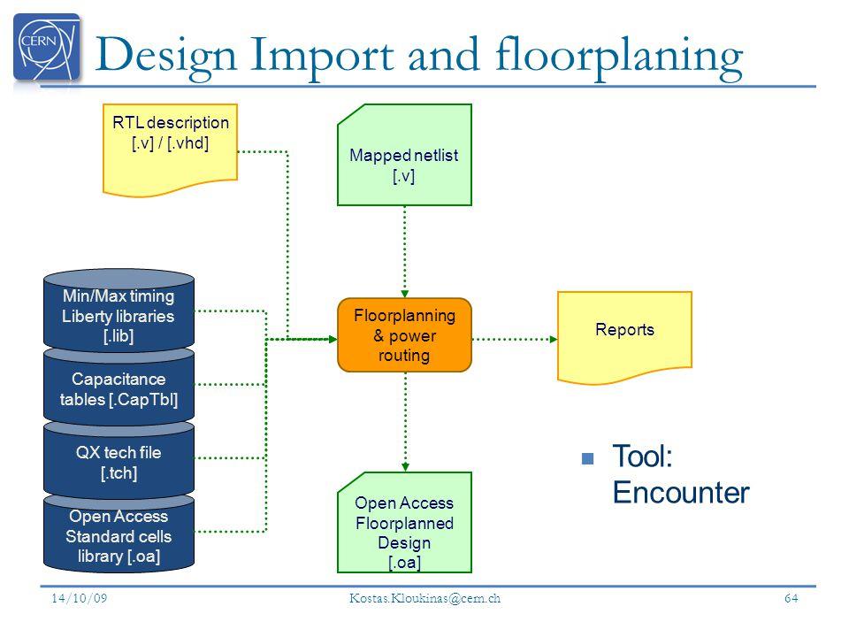 Design Import and floorplaning