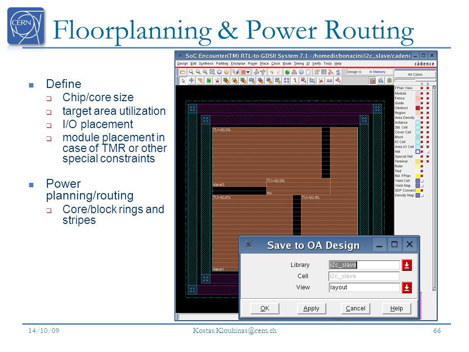 Floorplanning & Power Routing