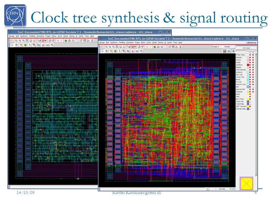 Clock tree synthesis & signal routing