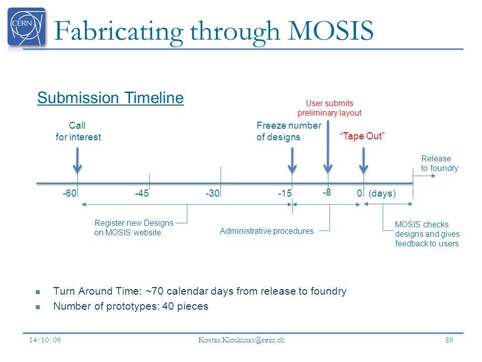 Fabricating through MOSIS