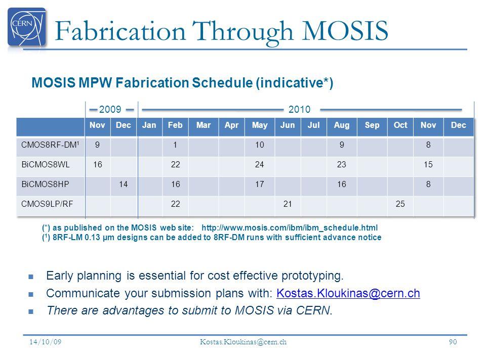 Fabrication Through MOSIS