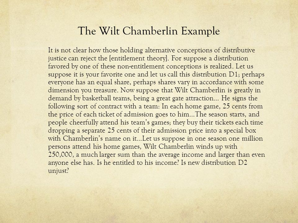 The Wilt Chamberlin Example
