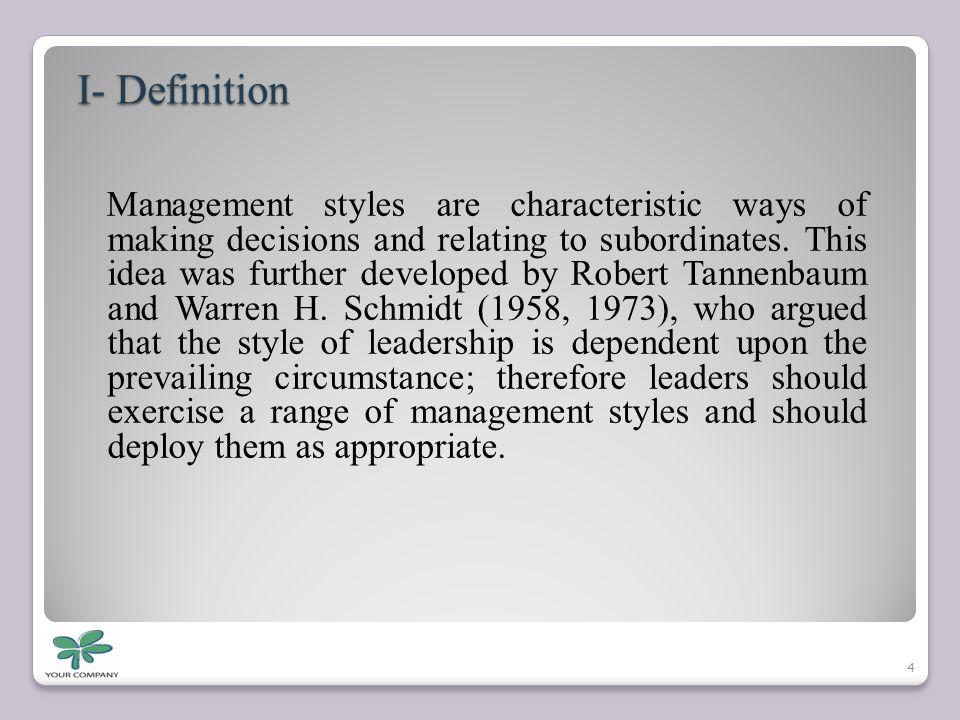 I- Definition
