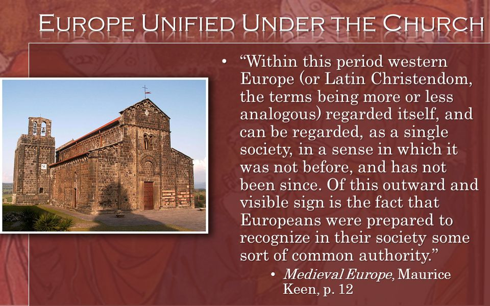 Europe Unified Under the Church