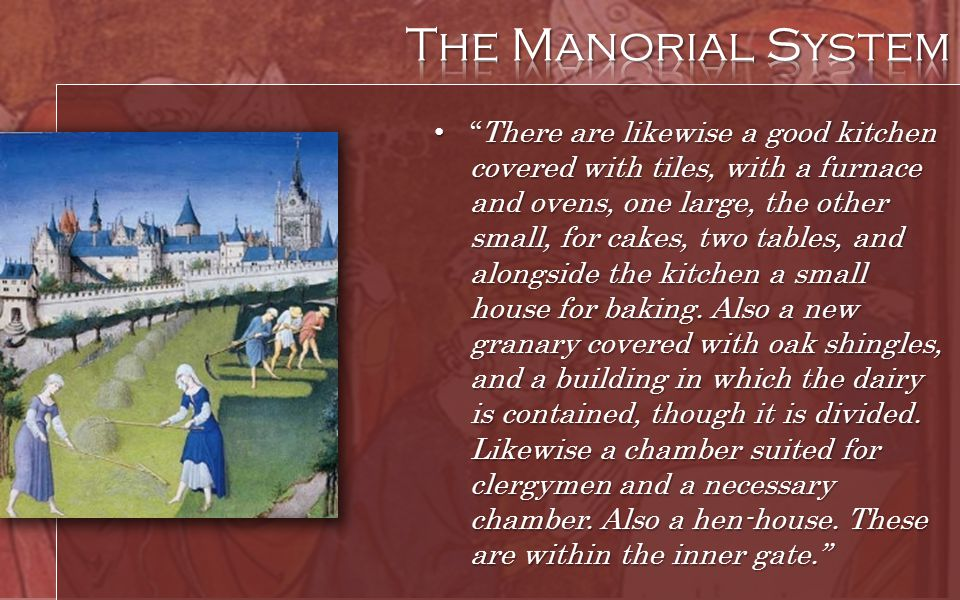 The Manorial System