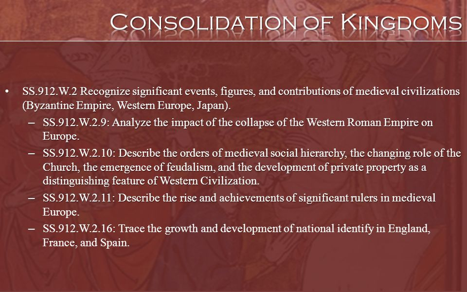 Consolidation of Kingdoms