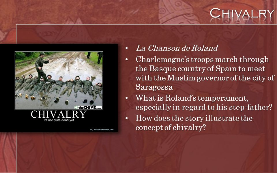 Chivalry La Chanson de Roland