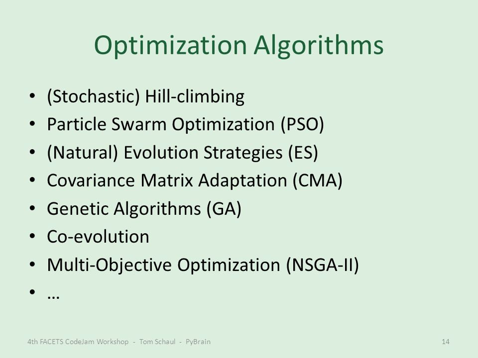 Optimization Algorithms