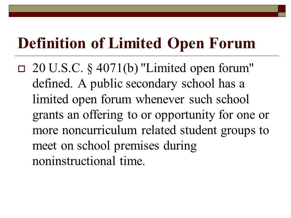Definition of Limited Open Forum
