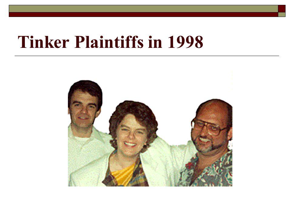 Tinker Plaintiffs in 1998
