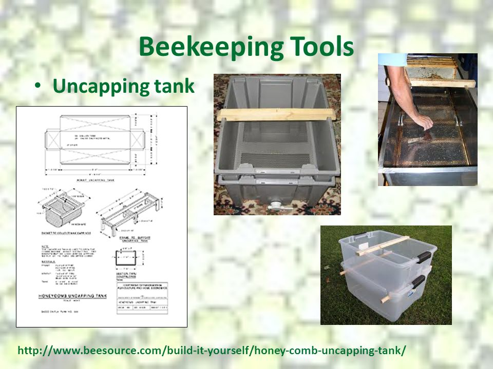 Beekeeping Tools Uncapping tank
