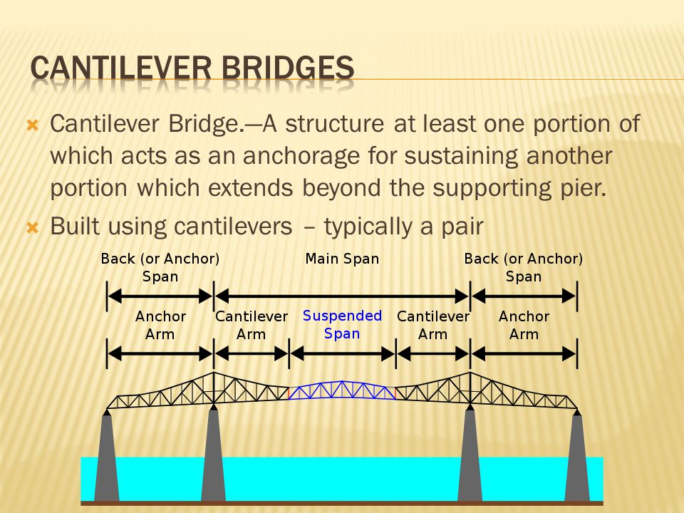 Cantilever bridges