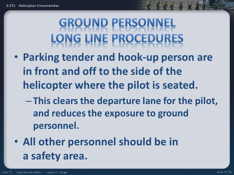 Ground Personnel Long Line Procedures