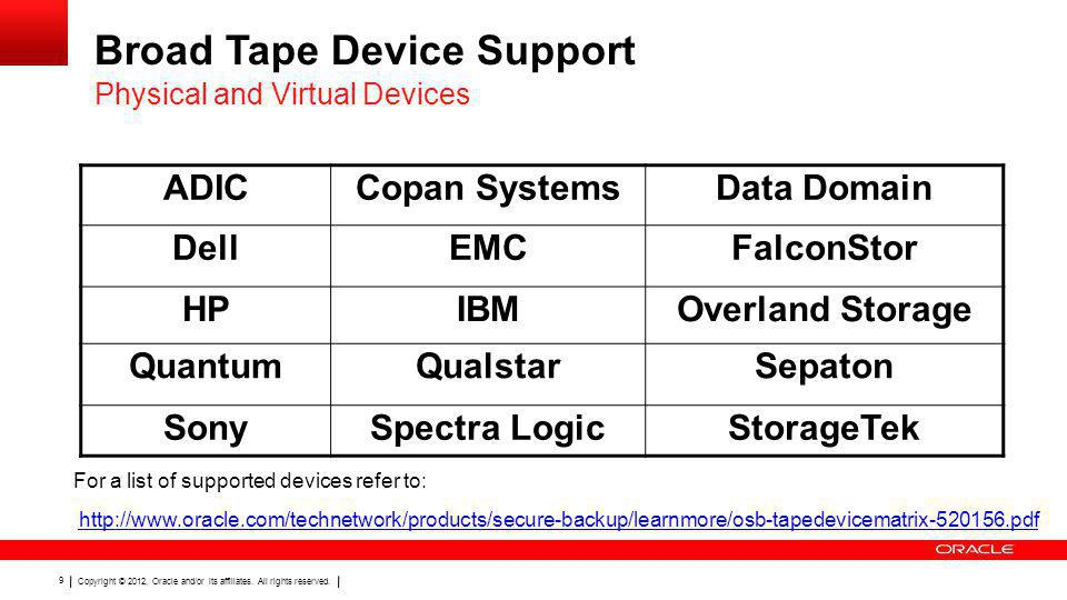 Broad Tape Device Support