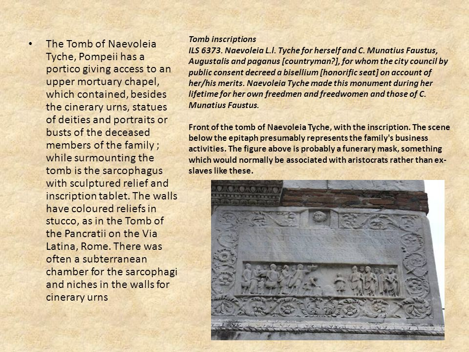 Tomb inscriptions