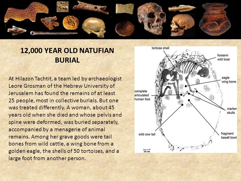 12,000 YEAR OLD NATUFIAN BURIAL