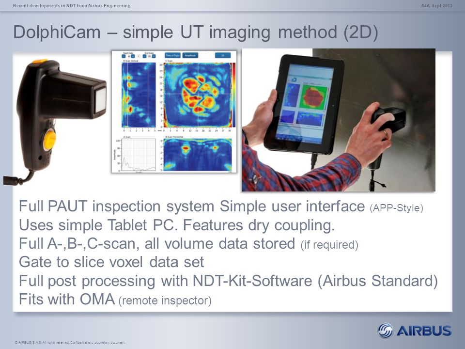 DolphiCam – simple UT imaging method (2D)