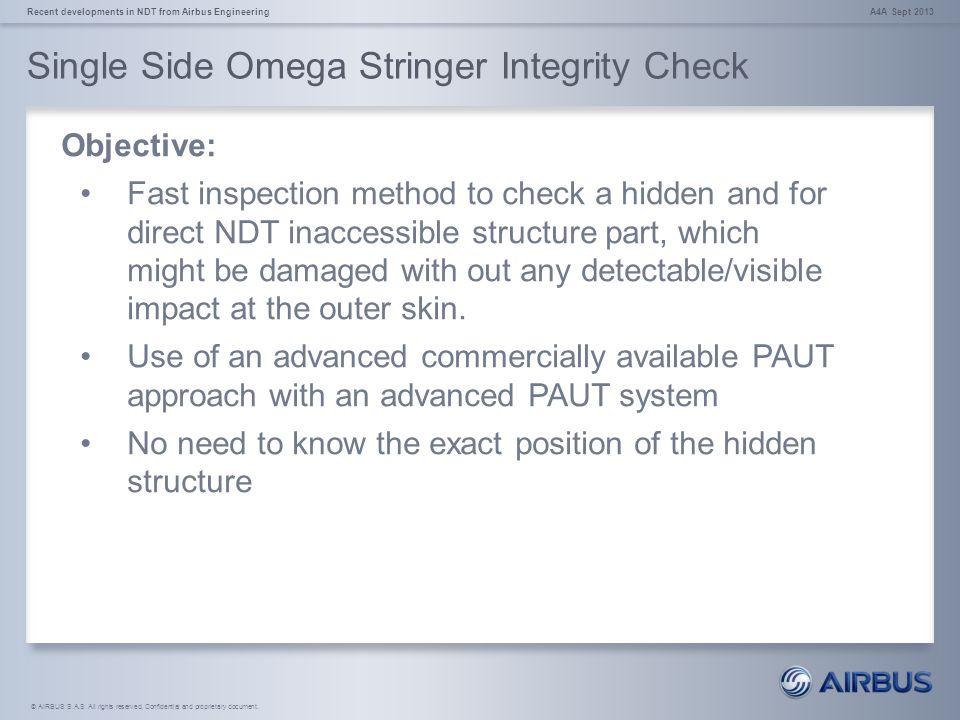 Single Side Omega Stringer Integrity Check