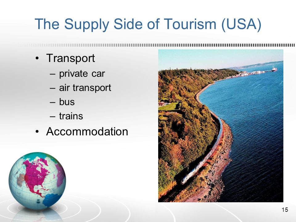 The Supply Side of Tourism (USA)