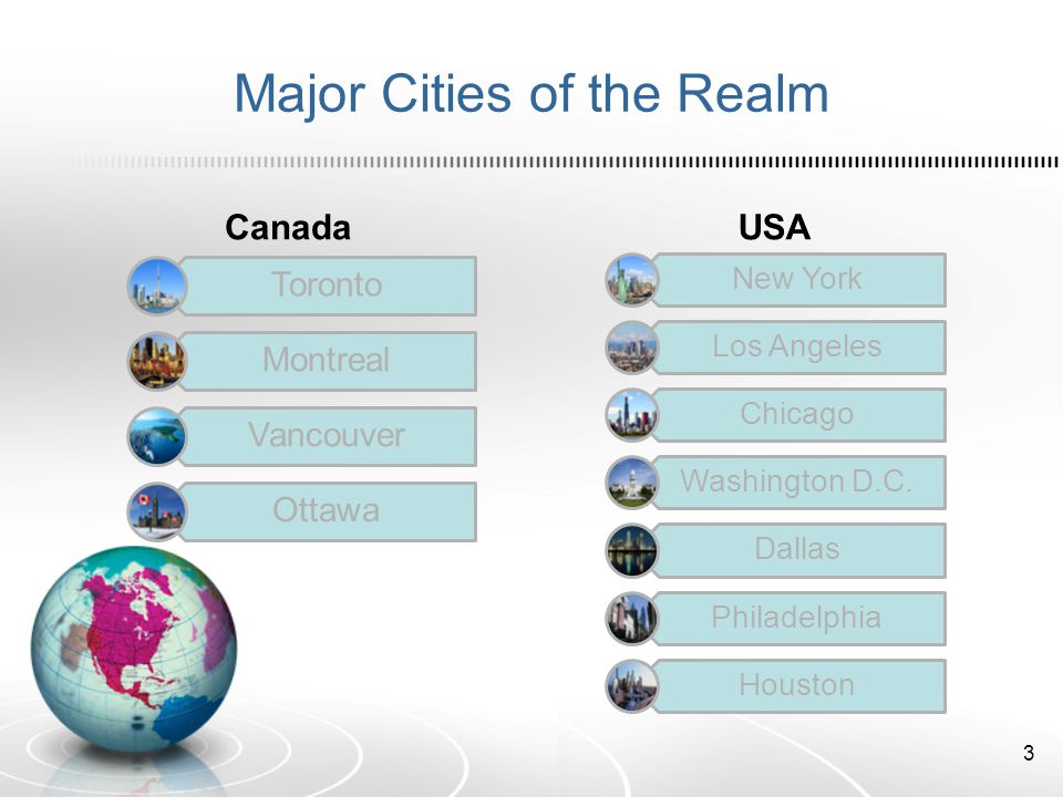 Major Cities of the Realm