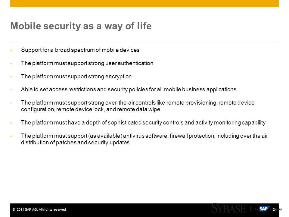 Mobile security as a way of life