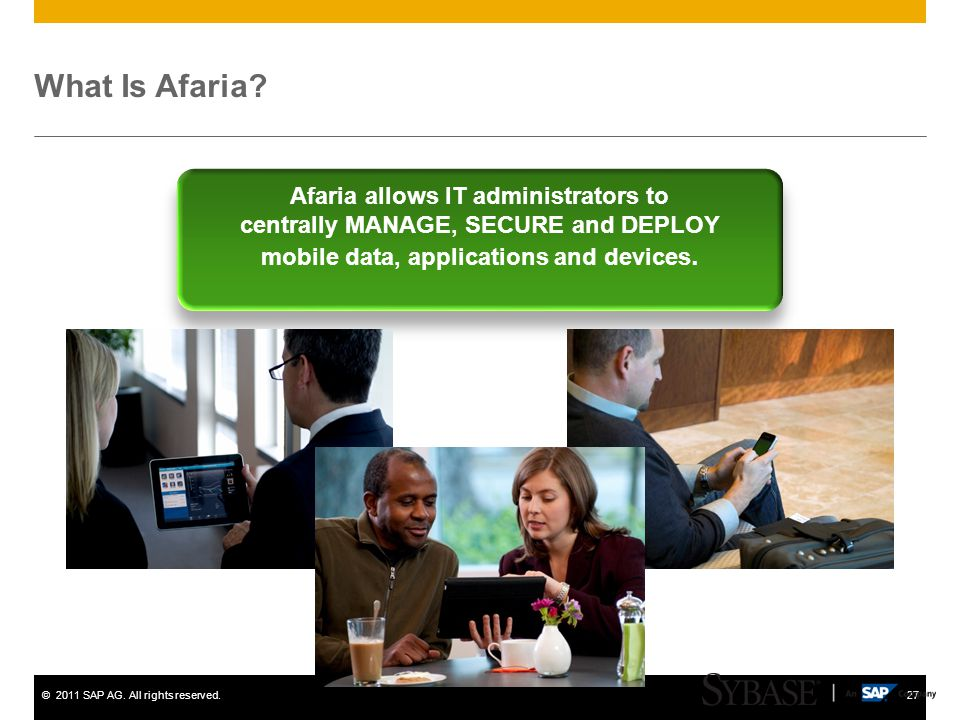 What Is Afaria Afaria allows IT administrators to