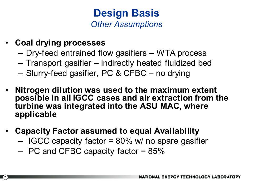 Design Basis Other Assumptions