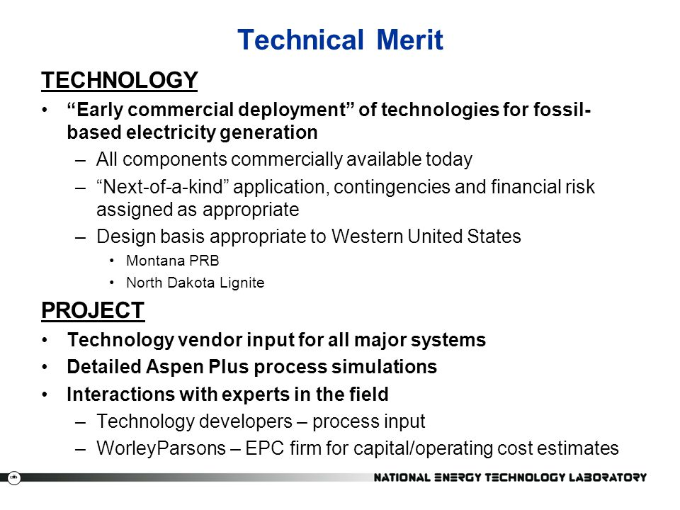 Technical Merit TECHNOLOGY PROJECT