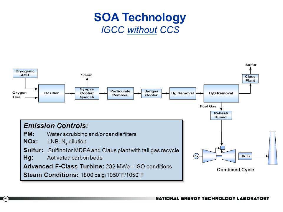 SOA Technology IGCC without CCS