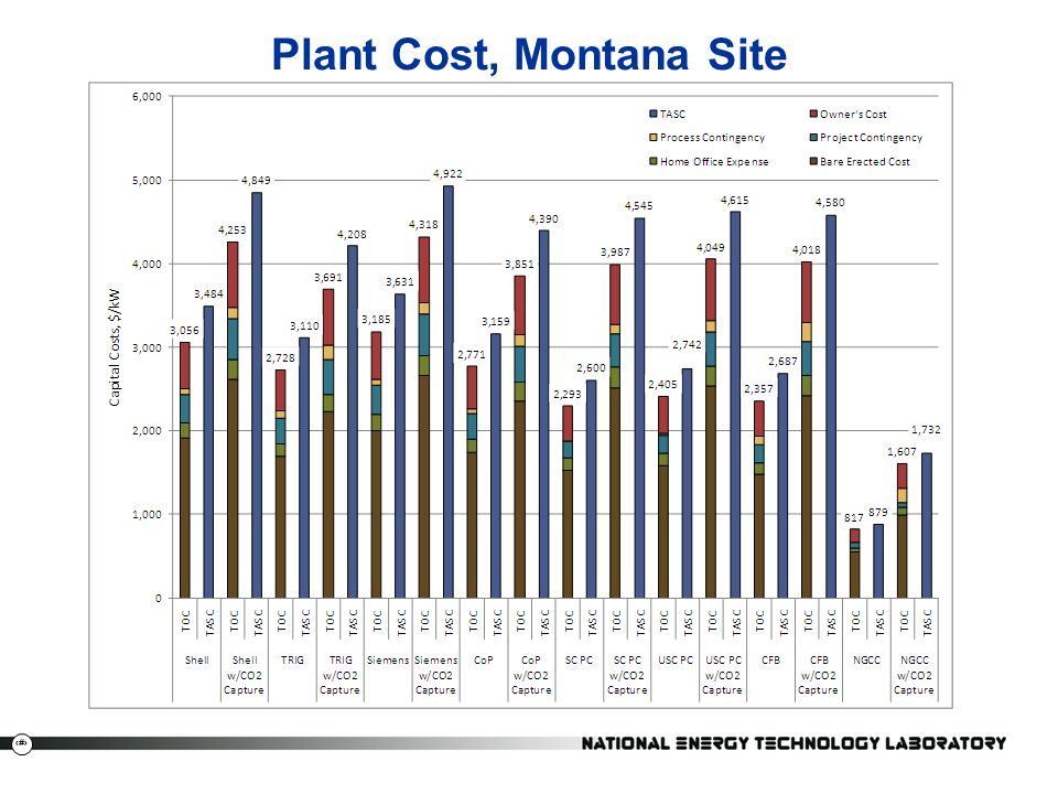 Plant Cost, Montana Site