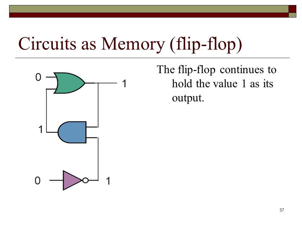 Circuits as Memory (flip-flop)
