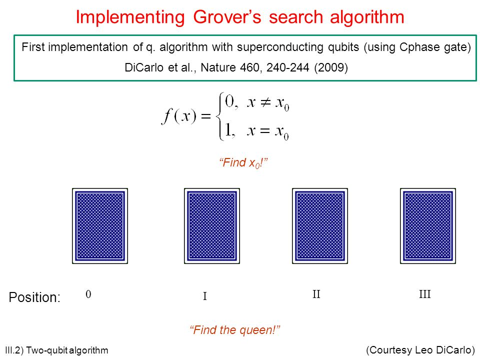 Implementing Grover's search algorithm