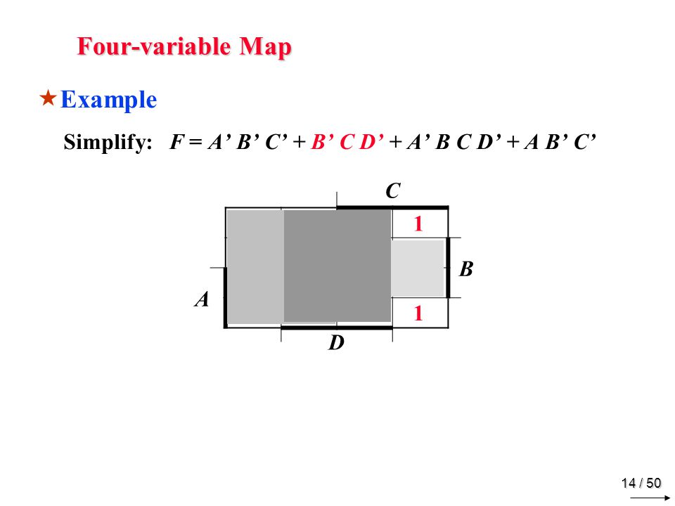 Four-variable Map Example C