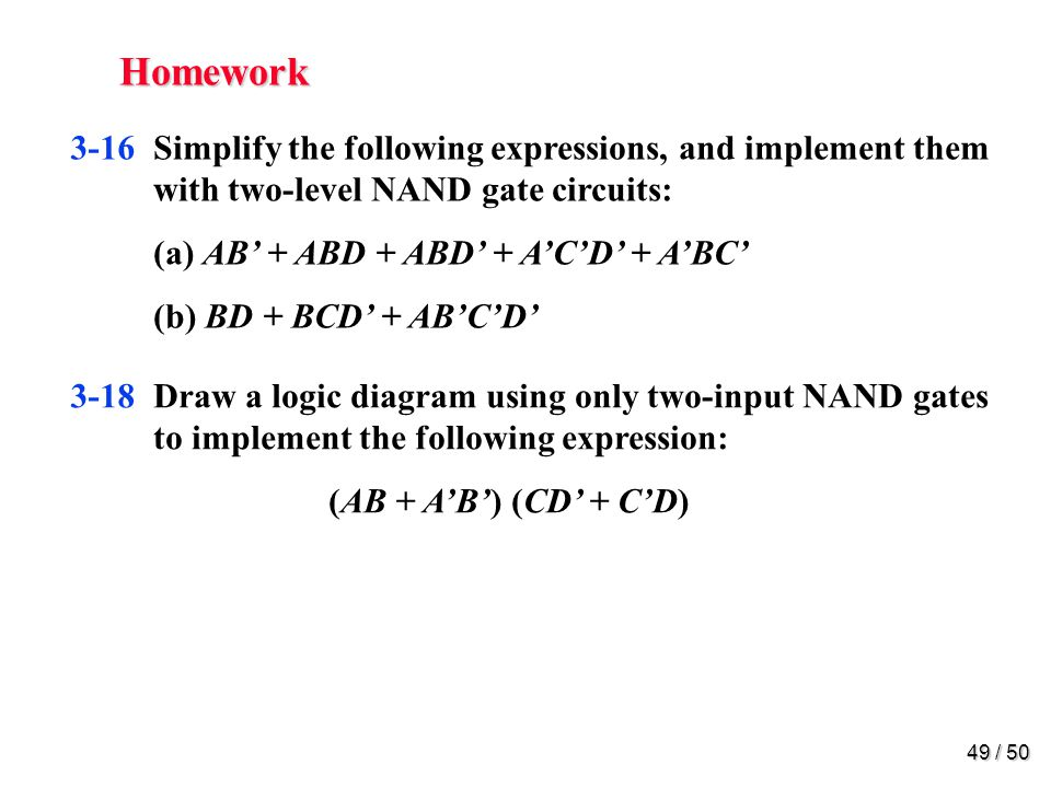 Homework 3-22. Convert the logic diagram of the circuit shown in Fig.