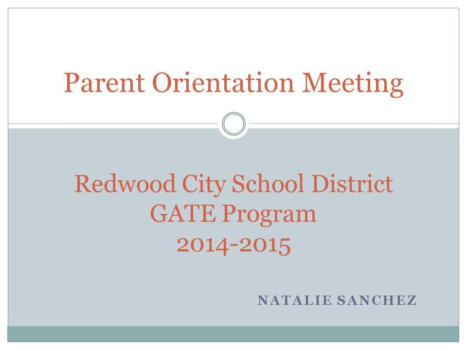 Redwood City School District GATE Program 2014-2015