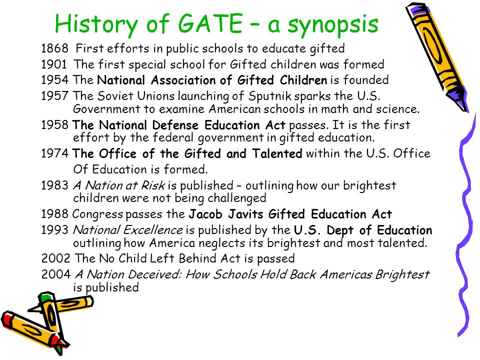 History of GATE – a synopsis