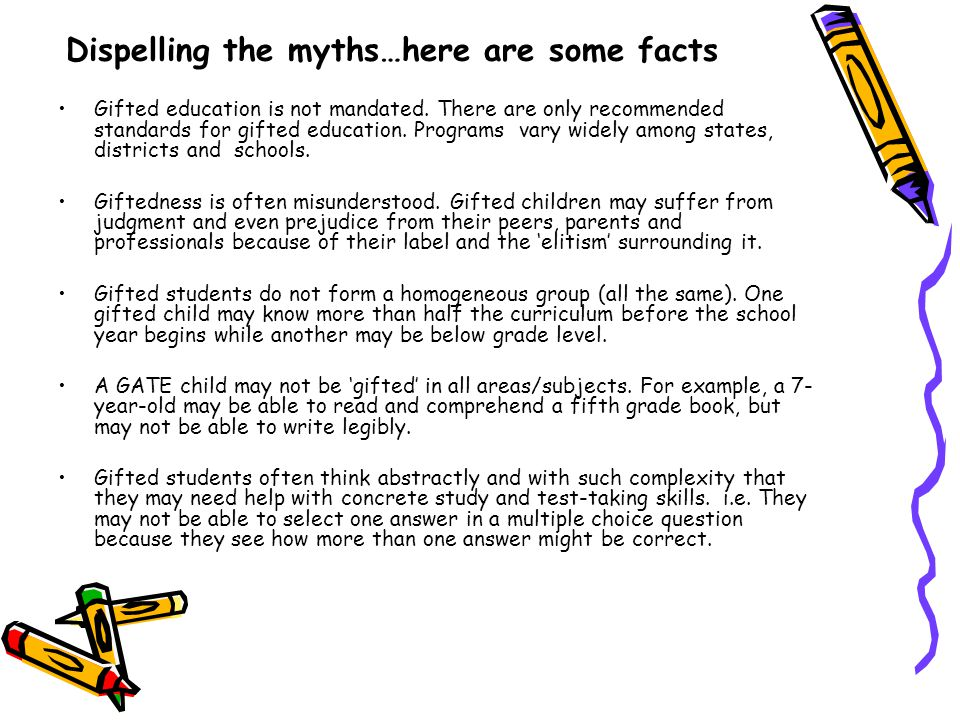 Dispelling the myths…here are some facts