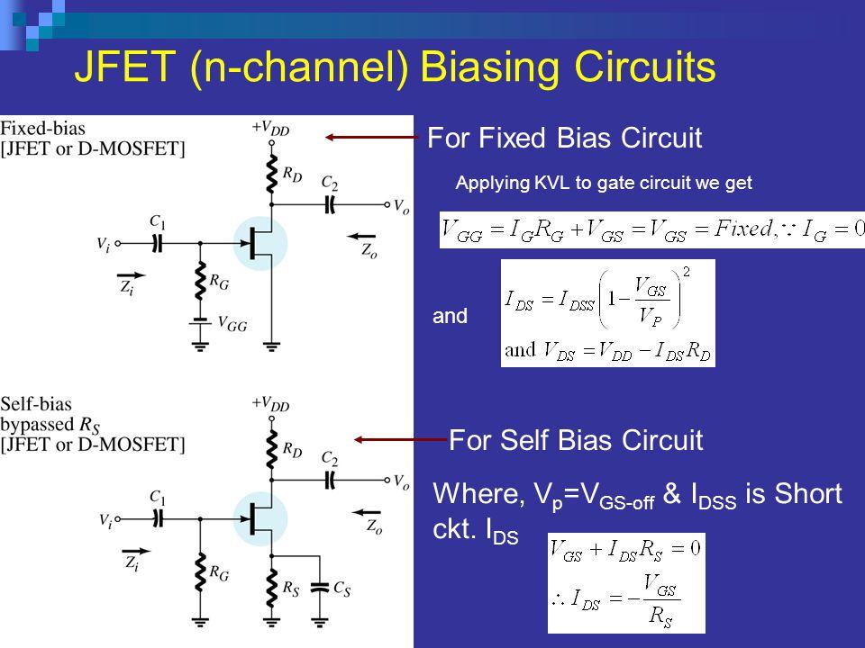 JFET (n-channel) Biasing Circuits