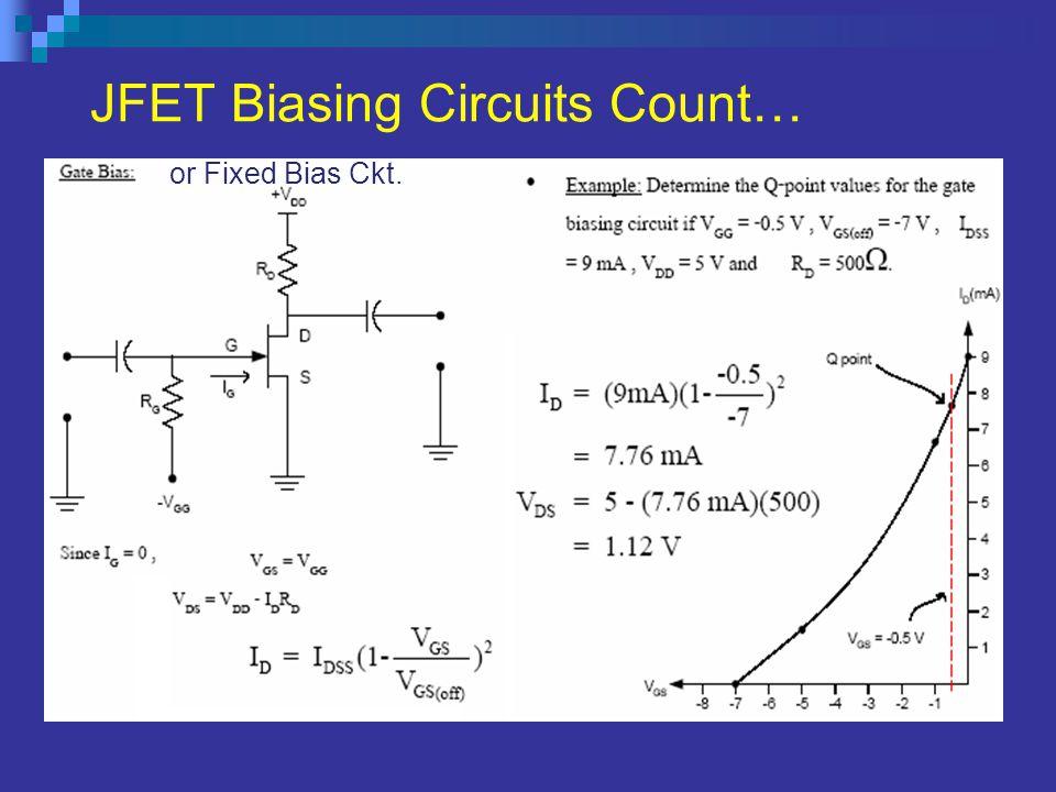 JFET Biasing Circuits Count…