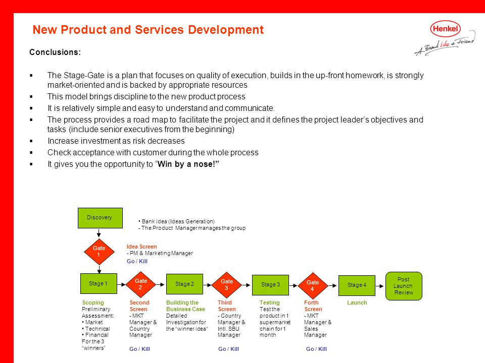 Henkel s stage gate process portugal division ppt download for Product design services