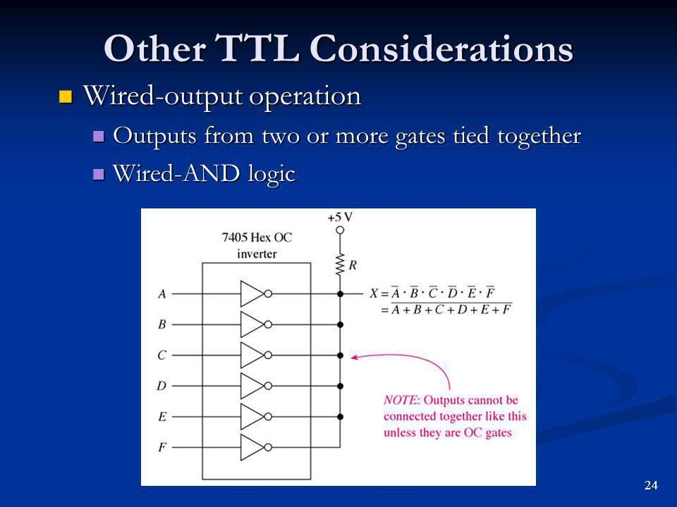 Other TTL Considerations