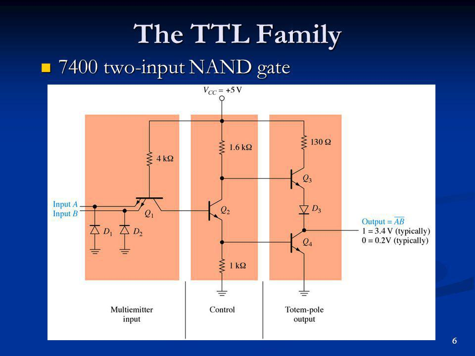 The TTL Family 7400 two-input NAND gate 6