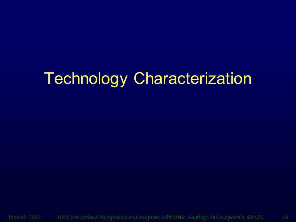 Technology Characterization