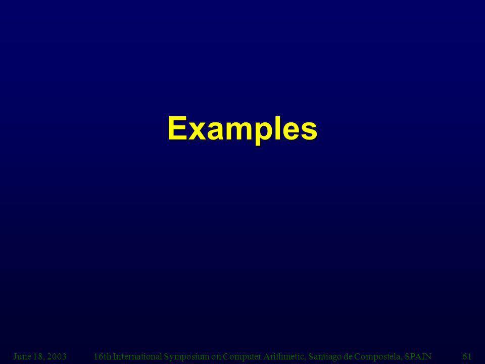 Examples June 18, 2003.