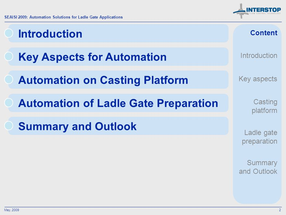 Key Aspects for Automation