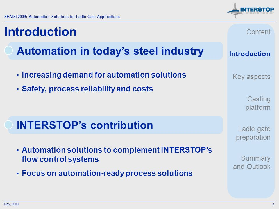 Introduction Automation in today's steel industry