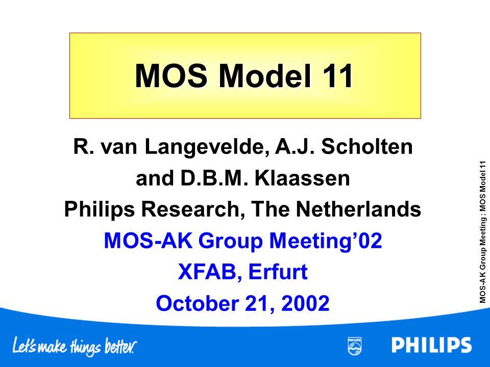 R. van Langevelde, A.J. Scholten Philips Research, The Netherlands