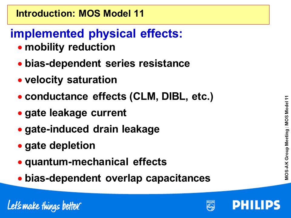 Introduction: MOS Model 11