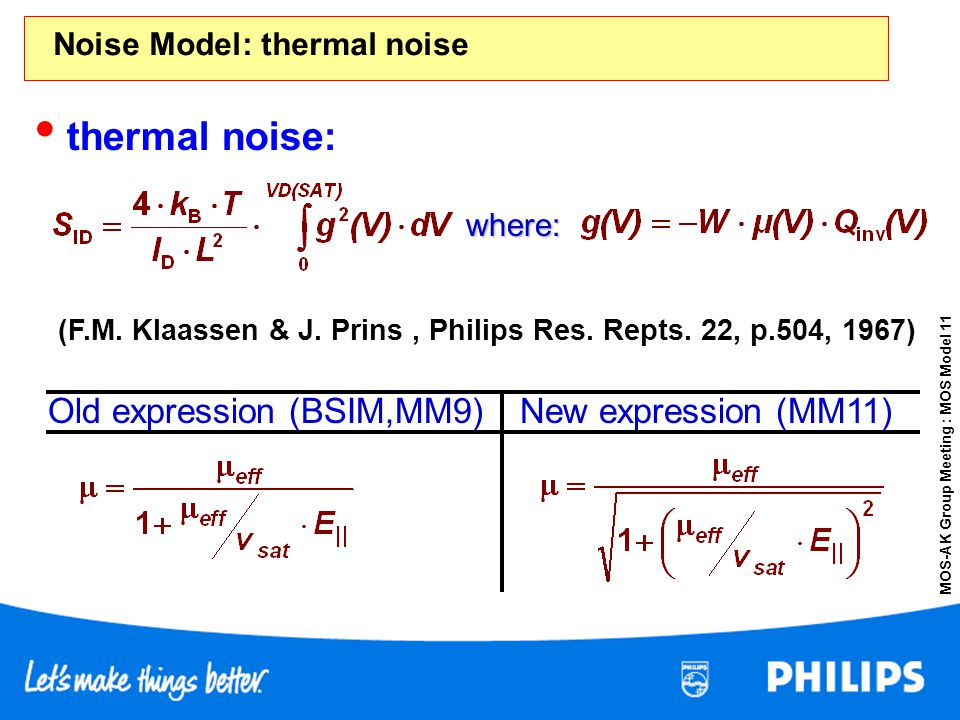 Noise Model: thermal noise