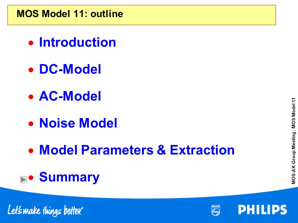 Model Parameters & Extraction Summary